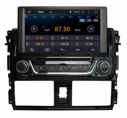 "Wholesale Dvd Gps Yaris - 4-Core 1024*600 Android 4.4 HD 2 din 8"" Car Radio Car DVD GPS for Toyota Yaris   Vios 2014 With GPS 3G WIFI Bluetooth IPOD TV USB AUX IN"