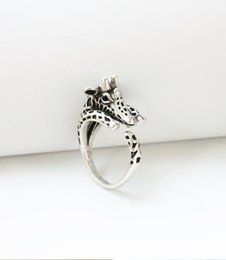 Wholesale Giraffe Rings - Wholesale-2015 ONE PIECE Hot Sale Giraffe Ring, Adjustable Animal Everyday Ring, Antique Vintage Ring, Gift Ring, Gift Idea