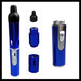 Wholesale Cig Lighters Freeship - Wholesale Sneak a Vape Click N Vape Mini Dry Herb Vaporizer Pen Smoking E-cig Pipe Incense Burner Gas Lighter Vapor Kit