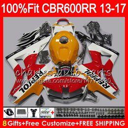 Wholesale Abs Color - Injection For HONDA CBR600 RR CBR 600RR F5 13 17 Repsol orange 89NO51 CBR 600 RR 13 14 15 16 17 CBR600RR 2013 2014 2015 2016 2017 Fairing