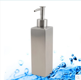 Wholesale Shower Soap Shampoo Dispensers - 304 stainless steel lotion bottle water waist-shaped bathroom liquid soap dispenser bottle shower shampoo dispensers