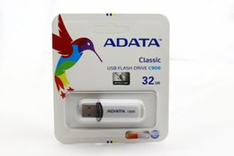 Wholesale Usb Disk Drives - NEW ADATA C906 32GB USB 2.0 Flash Memory GIFT Pen Drive Stick Drives Sticks Pendrives Thumbdrive Disk 80pcs lot