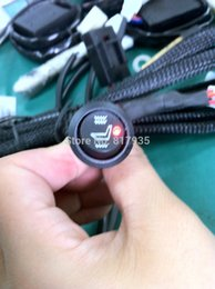 Wholesale Universal Seat Heaters - ibre tester 2 seats installed Free Shipping car seat heater universal round swich carbon fibre pads for automobile seat heating,heated se...