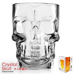 Wholesale Large Beer Glass Wholesale - 500ml Free shipping Large Crystal Skull cup beer cup glassware