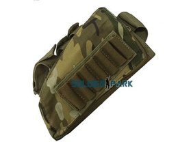Wholesale System Soft - New Arrival Outdoor Airsoft Tactical Combat Rifle Stock Ammo Pouch Durable High Quality Nylon Molle System Cheek Leather Pad order<$18no tra
