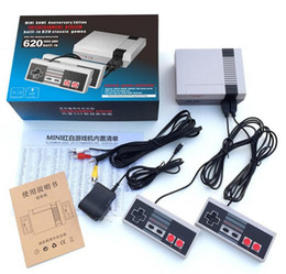 Wholesale Nintendo Games Consoles - TV Handheld Game Console Mini Video Game Player Console For Nintendo NES Windows PC Mac with 500 620 Built-in Games With Box Drop Shipping
