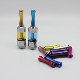 Wholesale Ego Aluminium - 510 Drip Tips Mouthpiece Long and Thin E Cigarette Drip Tips Aluminium Colorful for EGO Vivi Nova DCT protank2 510 Tank Atomizer (09h026)