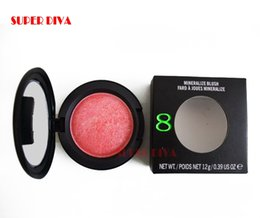 Wholesale Mineralize Blush 12g - Wholesale-1pcs lot hot selling makeup COSMETICS Mineralize BLUSH BLUSHER 8 colors choose 12g blush