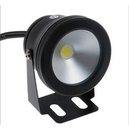 Wholesale Black Pool Lights - Underwater Led Warm White Light 1000LM Waterproof IP68 10W 12v fountain pool Lamp body Black free shipping