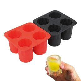 Wholesale Plastic Shooters - ONLY Bar Party Drink Ice Tray Cool Brain Shape Ice Cube Freeze Mold Ice Maker Mould Shooters Supplies Shot Glasses