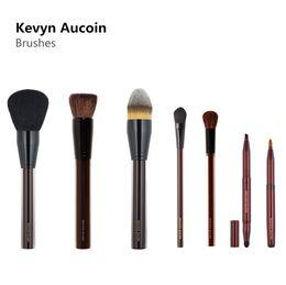 Wholesale Acrylic Hair Brushes - Kevyn Aucoin Powder Foundation Blush Shadow Contour Brushes High Quality Acrylic Beauty Cosmetics Makeup Brush Blender DHL Free Shipping
