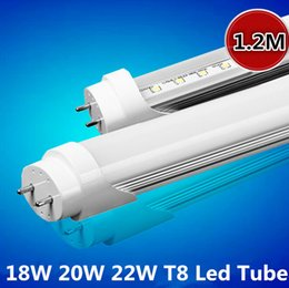 Wholesale Bright Feet Led - 4ft 1200mm T8 Led Tube Light 18W 20W 22W Led 1.2m 4 Feet Tube Lights Led Fluorescent Bulb Warm Natrual Cool White High Bright CE ROHS