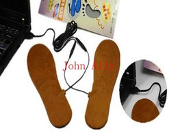 Wholesale Electric Foot Warmer Pads - Amazing Useful Item For Man Women Foot Plush Warming USB Electric Heating Heated For Shoes Insoles Pads For Winter Warming Free Shipping
