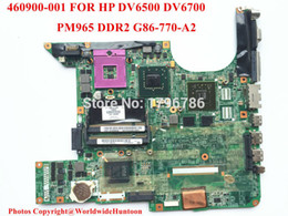 Wholesale Laptop Sata Mini - Wholesale-Original laptop motherboard 460900-001 for HP DV6500 DV6700 motherboard G86-730-A2 PM965 Intel DDR2 non-integrated fully test