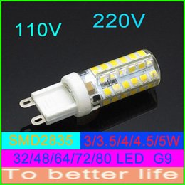 Canada 3W SMD 2835 3014 LED G4 G9 ampoule lumière LED lampes en cristal bougie en silicone maïs Droplight lustre spot lumière 220V 110v Noël cheap silicone candle light bulbs Offre