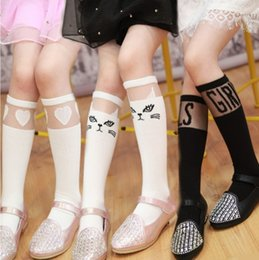 Wholesale Lace Tights For Kids - Baby Girls Socks Lace Childrens Socks for Kids 2015 Autumn Winter Bow Socks tights Tube Socks Dancing Floral stockings ZZ-555