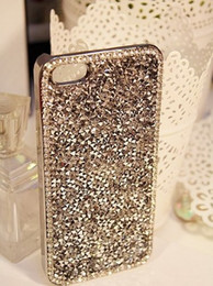 Wholesale Deluxe Iphone 5c Case - For iphone 5c Deluxe Elegant Shiny Bling Gold Diamond Crystal Case Cover For Apple iPhone 5C free shipping
