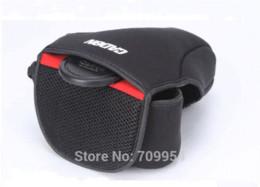 Wholesale Dslr Camera Bag Inserts - Medium Size, DSLR SLR Neoprene Soft Camera Cover Pouch Insert Bag Inner Case For Nikon Pentax Canon 1100D D5100 EOS
