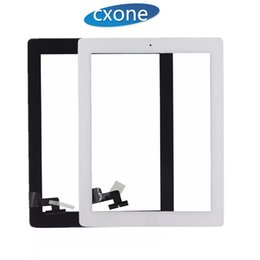 Wholesale Ipad Screen Glass Replacement - Repair Standar For iPad 2 Touch Screen Part Assembly with home button with adhesive Replacement Front Glass White Black Fast Delivery