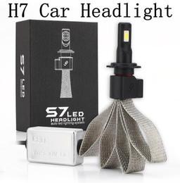Wholesale Professional Car Kit - Super Bright H7 Car Light Source Headlights 6400Lm 6000K Car LED headlight Bulb Conversion Kit Professional Tinned Copper Braid