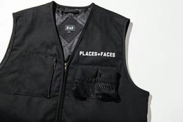 Wholesale Face Clothing - PALACE+FACES Men's Clothing Fashion Casual Streetwear Justin Biber Style Warm Wool Zipper Relax Vest Free Shipping
