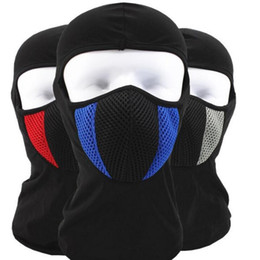 Wholesale Motorcycle Beanie Helmets - Winter Warm Motorcycle Wind Stopper Face Mask Neck Helmet Beanies Cap For Men Women Bicycle Thermal Fleece Balaclava Hat