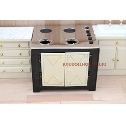 Wholesale Play Miniature Dollhouse - New Arrival! Metal 1:12 Dollhouse Miniature Kitchen Stove Cooking Play Doll House Furniture Accessories (Can be cooked)
