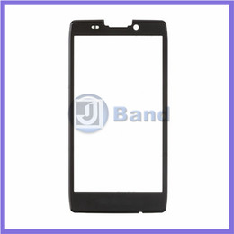 Wholesale White Razr - Wholesale-New Black White Front Touch Screen outer Glass Lens For Motorola Droid Razr HD XT925 XT926 Replacement