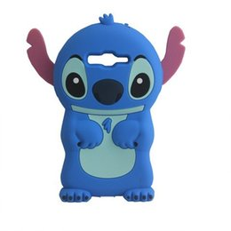 Wholesale Cute Stitch Iphone Case - 3D Cute Cartoon Blue Silicone Rubber Stitch Case For Samsung Galaxy S5 S6 Edge Plus Note 4 5 Grand Prime Core Plus ACE LTE G357 A5 A7