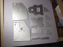 Wholesale Cnc Parts Kit - OX CNC machine parts CNC cut Aluminium OX Gantry plates kit angle joint plate back X axis front plate set 4-Wheel X Spacers