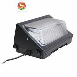 Wholesale Led Wells - CREE LED 60W 80W 100W 120W LED wall pack Outdoor Lighting Wall Mounted led light 5000K mean well driver DLC ETL Listed 90-277V
