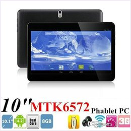 Wholesale Extra Sim - 10 Inch MTK6572 Dual Core GPS Bluetooth Android 4.4 OS tablet Dual Sim Phablet 3G GSM phone call tablet PC 1GB RAM 16GB ROM 10.1 9.7 MQ10