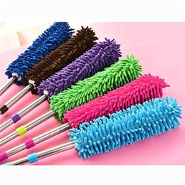 Wholesale Car Duster Case - Household Cleaning Tools Scalable chenille duster Mop Duster dusting brush cleaning dust feather duster car to brush dust