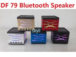 Wholesale Cheap Mini Speakers - DF 79 DF-79 mini speaker portable hands free HIFI Bluetooth speaker for tablet phone note4 LG HTC Q88 MP3 4 PSP DHL FREE Buy Top Cheap