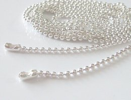 Wholesale Tile Necklaces - 500pcs Shinny Silver Plated Ball Chains Necklace 18 inch 1.5mm Great for Scrabble Tiles,Glass Tile Pendant,Bottle Caps and more