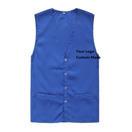 Wholesale Cheap Wholesale Contacts - Cheap Custom Made Vest Customized Work Clothes Waistcoats Printed YOur Logo Contact us to confirm price according to your logo before order