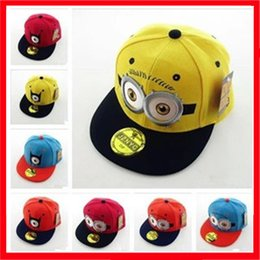 Wholesale Despicable Dhl - Cheap Kids Autumn Winter Outdoor Despicable Me Baseball Caps Boys Embroidery Snapback Caps Hats For Christmas Gift 20PCS Free DHL
