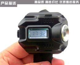 Wholesale Weight Lamp - Outdoor lamp light flashlight wrist Riding at night fishing lamps add watch function Charging wrist wear light weight about 100 g