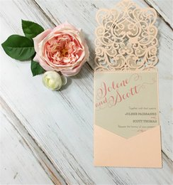 Wholesale China Wedding Invitation Cards - Wholesale- 2016 China wholesale fancy handmade paper laser cut gatefold wedding invitation card