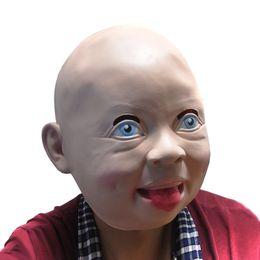 Wholesale Baby Mask Adult Halloween - 2015 New Halloween Lovely Baby Full Head Latex Mask adult predator costume MASK mascara latex