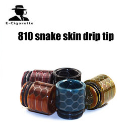 Wholesale Accessories For Dogs Wholesale - Coil Father 810 Snake Skin Epoxy Resin Drip Tip For TFV8 TFV12 Big Baby Kennedy 24 Mad Dog E Cigarette Accessory
