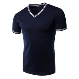 Wholesale Collared T Shirts For Men - Short Sleeve T Shirts for Men V Neck SQ14