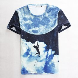 Wholesale Rock Climbing Shirt - w1209 [Amy] 2015 summer Men Women t shirt stars rock climbing print short-sleeve casual 3d tshirts harajuku top tees S-XL 1876