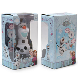 Wholesale Piggy Bank Dolls - Frozen dolls olaf 6.7 inch musical Piggy bank Saving Coin music box Unique toy kids Decorative gift Novelty Children's toys Xmas Gifts