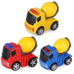 Wholesale Toy Friction Trucks - Wholesale-2015 New 360 Degree Rotating Friction Dumper Soils Engineering Vehicles Trucks Car Toys Blue Red Yellow