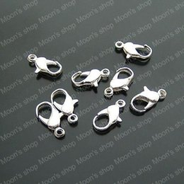 Wholesale Iron Lobster - (17578)Fashion Jewelry Findings Jewelry Pendants Connector Iron Silver 12*5MM Lobster Claw Clasp 100PCS