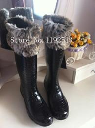 Wholesale Tall Fleece Socks - Wholesale-Free Shipping,Cotton Rain Boots Socks Chunky Cable Cuff Fleece Welly Rainboots Socks.M L size for tall women Fleece socks