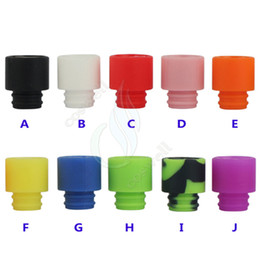 Wholesale Silica Tips - Color disposable silica gel 510 drip tips huge vaporizer wide bore Mouthpiece dripper tip e cig cigarette atomizer RDA tank Dripping DHL