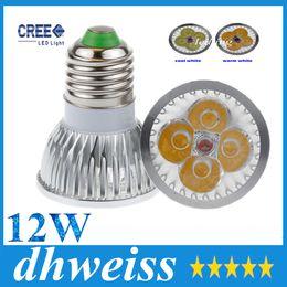 Wholesale Cheap Dimmable Led Bulbs - High power GU10 MR16 E27 E14 G5.3 12W CREE 4x3W Dimmable Led Light Lamp Spotlight led bulb 10pcs, cheap!!+CE ROHS