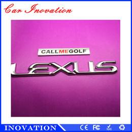 Wholesale Car Letter Badges - OEM Service Chrome ABS Letter Car Badge Emblem Sticker with Tape For Car Decoration Lexus Emblem